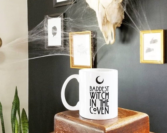 Handmade Baddest Witch In The Coven Coffee Cup - Handmade Halloween Coffee Cup - Handmade AHS Coffee Mug -