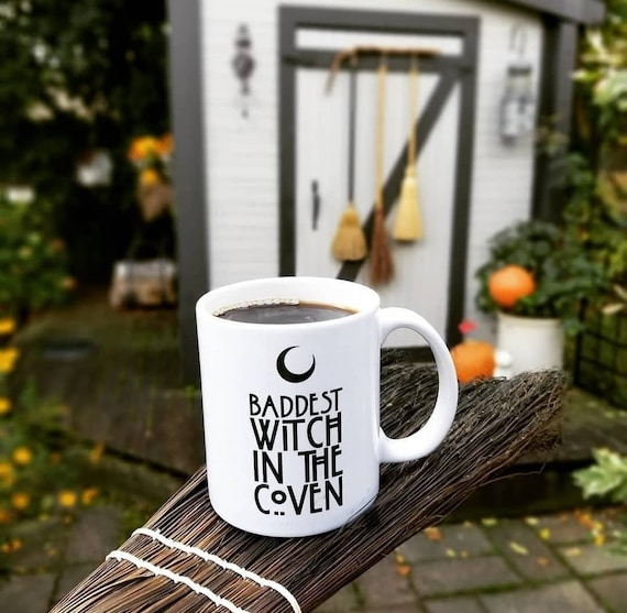 Handmade Baddest Witch In The Coven Coffee Cup - Handmade Halloween Coffee Cup - Handmade AHS Coffee Mug