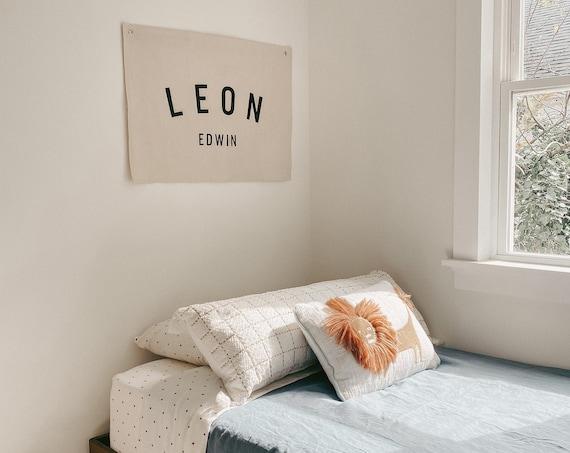 Handmade Custom Name Banner - Custom Fabric Wall Hanging - Large Rectangle Name Banner
