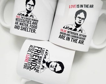 f02cc281420f9b Handmade Dwight Schrute Valentine s Day Mug Collection - Office Quotes -  Dwight Schrute Coffee Mug - The Office Coffee Cup