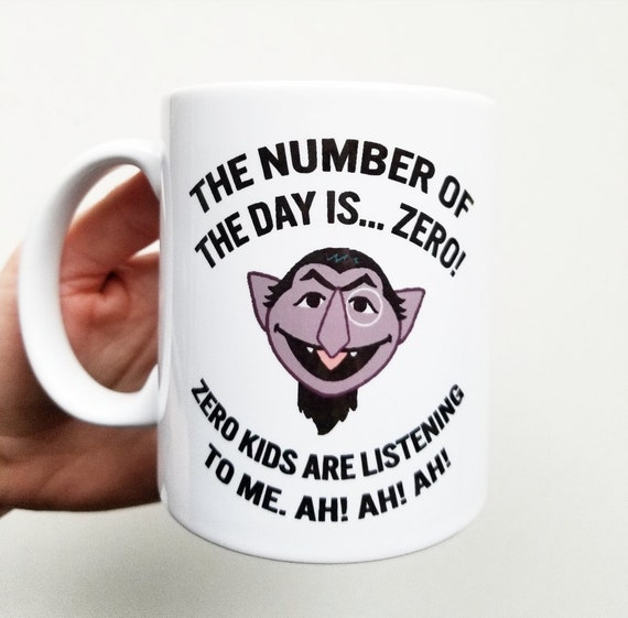 "Handmade ""Number of the Day"" Coffee Mug - Handmade Coffee Cup - Count Mug - Funny Coffee Cup"