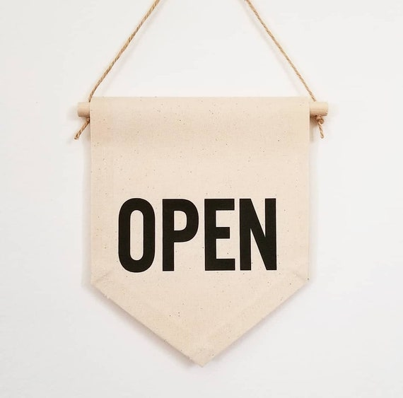 Handmade Double-Sided Open/Closed Sign - Open Sign - Handmade Custom Open Sign - Handmade Open Banner - Open and Closed Door Sign
