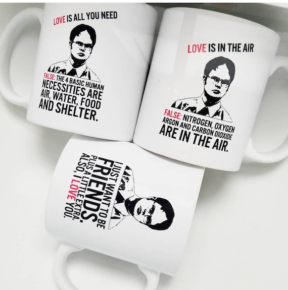 Handmade Dwight Schrute Valentine's Day Mug Collection - Office Quotes - Dwight Schrute Coffee Mug - The Office Coffee Cup