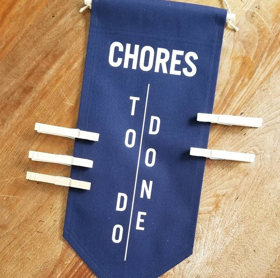 LIMITED STOCK - Handmade Navy Blue and Chalkboard Green Chore Charts - Colorful Chore Charts