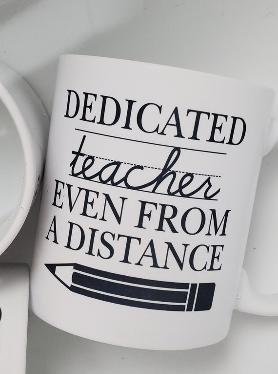 Handmade Teacher Appreciation Coffee Mug - Distance Learning Coffee Cup - Teacher Gift - Teacher Coffee Mug - Remote Teaching Coffee Cup