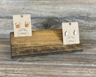 Elevated Earring Card Display / Earring Card Holder / Earring Card Organizer / Business Card Display / Jewelry Display Board