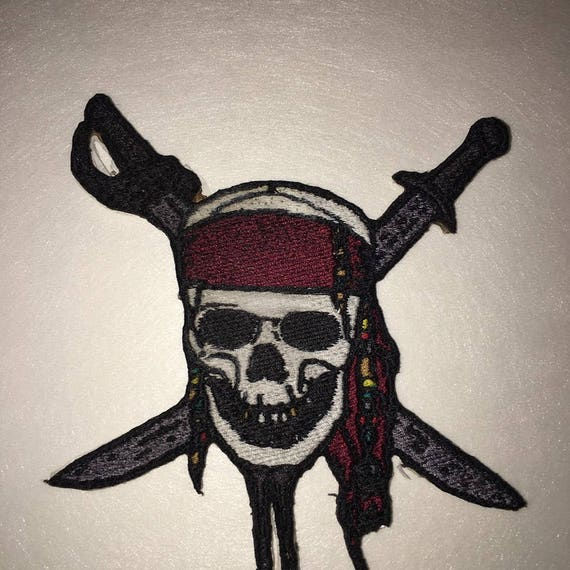 "9/"" Pirates of the caribbean captain will fabric applique iron on character"