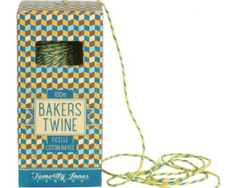 SALE Blue & Yellow 100m Bakers Twine String