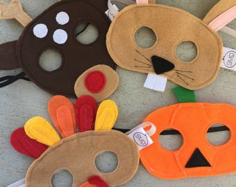 Easter gift pack etsy holiday felt mask 4 pack bundle hoppers easter bunny rabbit halloween smiles pumpkin gobble turkey rudy christmas reindeer negle Image collections