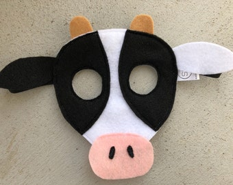 Cow mask   Etsy