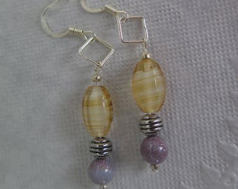 Whiskey and Grape earrings