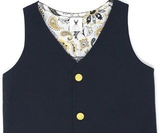 Boys Black Vest, Toddler Black Vest, Black Vest for Boys, Ring Bearer Outfit, Ring Bearer Vest, Infant Formal Wear, Boys Wedding Vest