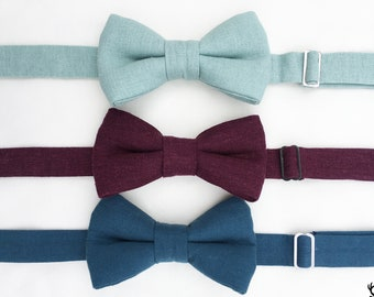 Boys Wine Bow Tie, Dusty Blue Bow Tie, Mens Sage Green Bow Tie, Wine Bow Tie, Toddler Bow Tie, Boys Dusty Blue Bow Tie, Ring Bearer Outfit,