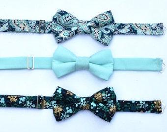 Boys Blue Bow Tie, Boys Teal Bow Tie, Toddler Aqua Bow Tie, Boys Navy Blue Bow Tie, Ring Bearer Bow Tie, Newborn Photo Prop, Boyish Charm