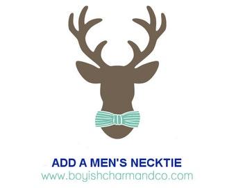 Add-On Men's Necktie, Father Son Matching Necktie, Father Son Tie Set, Adult Necktie