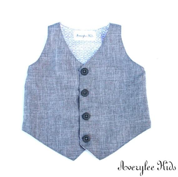 Charles Gray Toddler Formal Wear Boys Linen Look Vest Boys