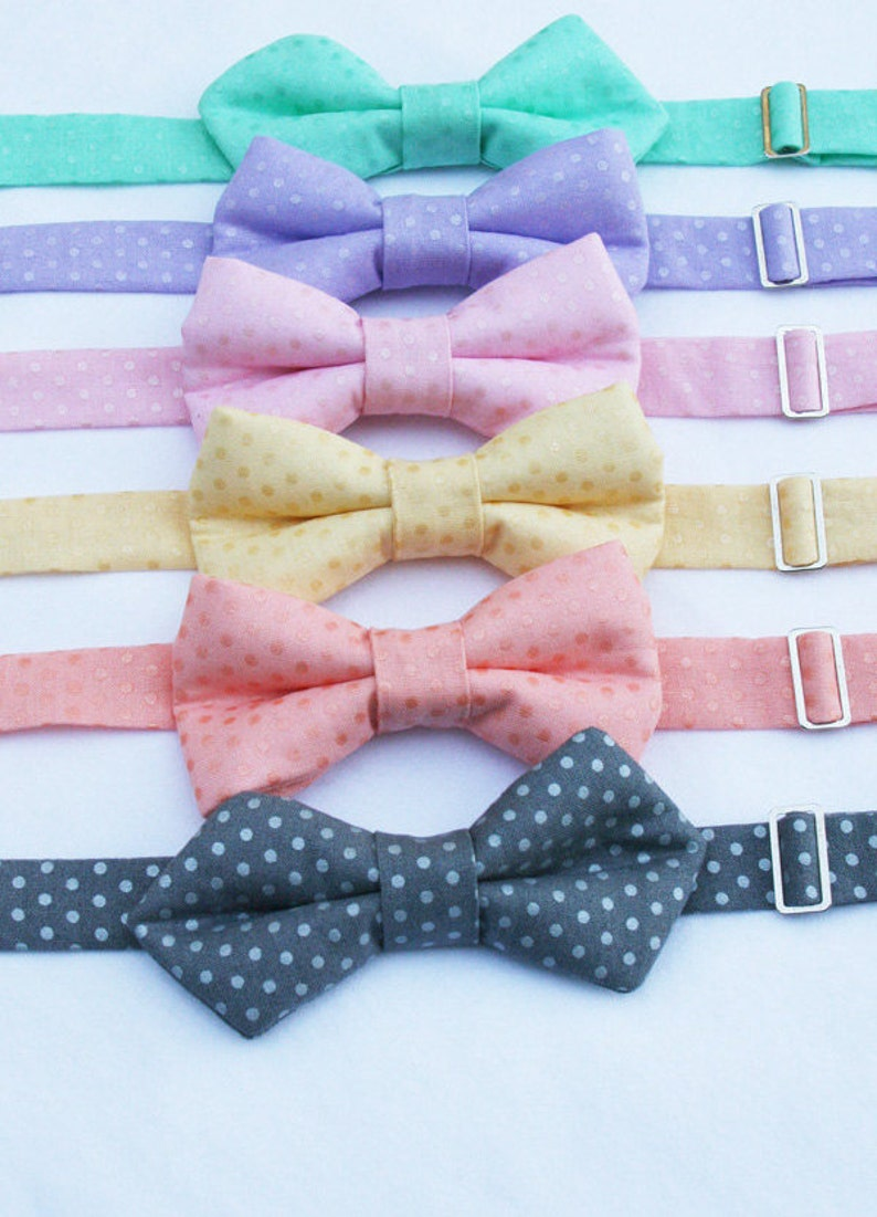 63c66c132177 Easter Bow Tie Boys Bow Tie Polka Dot Bow Tie Toddler | Etsy