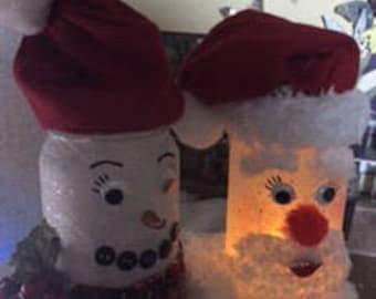 Luminary christmas jars