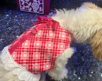 Small dog fashion harness