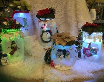 Christmas luminary lanterns