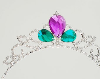 9ed84c65e880 Girls Ariel the little mermaid Tiara Crown Inspired girls costume  rhinestone crystal birthday