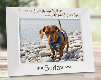 Dog Memorial Frame Dog Picture Frames Pet Loss Gifts Dog Etsy