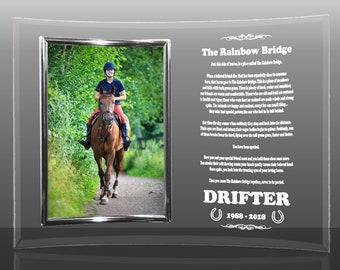 Horse Frame, Rainbow Bridge, Horse Sympathy Gift, Horse Remembrance, Horse, Horse Lover Gift, Horse Memorial, Loss Of Horse, Horse Loss Gift