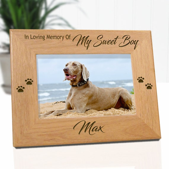 Pet Loss Dog Memorials Loss Of Pet Picture Frames Pet Etsy