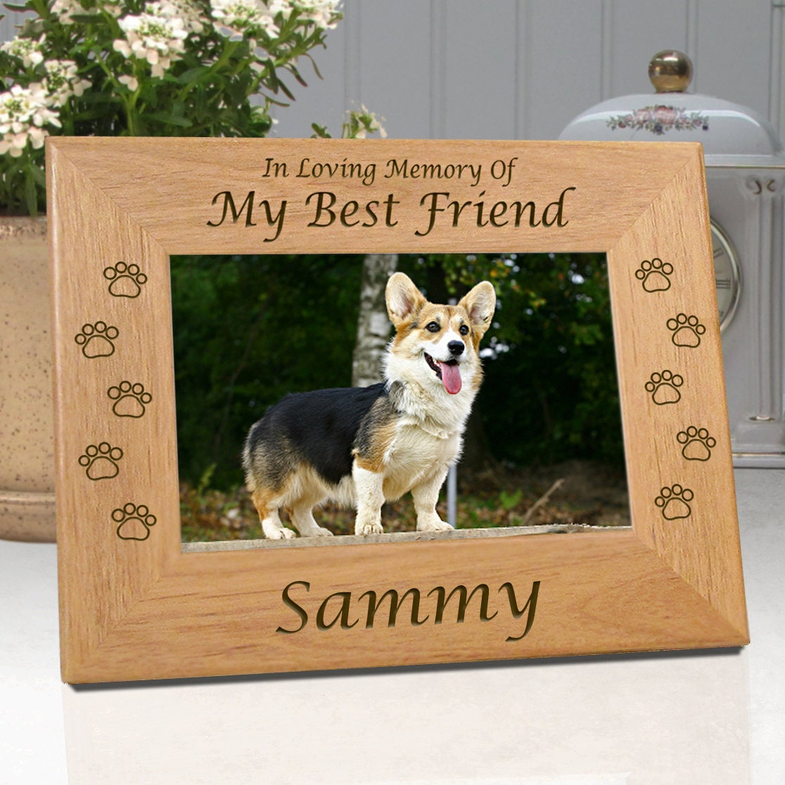 Personalized Dog Memorial Frames My Best Friend or Our Best