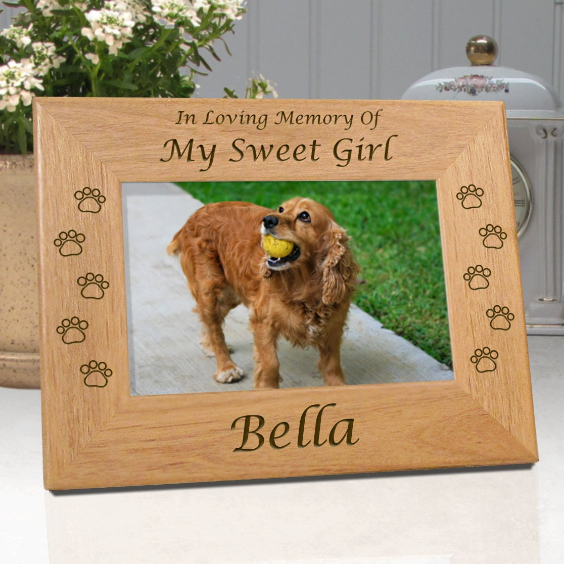 Personalized Pet Frame In Loving Memory Of My Sweet Girl or | Etsy