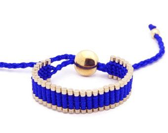 Link Friendship Bracelet - Blue Color (Gold Plated) - One Direction