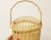 Small Wicker Wall Hanging Basket