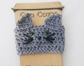 Grey Cat Cup Cozy, Kitten...