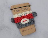 Sock Monkey Cup Cozy, Cro...
