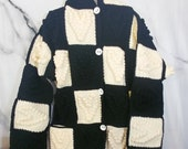 Black and White Hooded Cr...