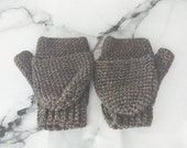 Brown and Gold Fingerless...