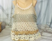 Boho Crochet Tank Top, Of...