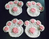 Dog Paw Coaster Crochet P...