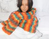 Multicolor Hand Knit Scar...
