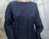 Dark Blue Cabled Pullover...