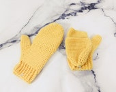 Yellow Merino Wool Flip-T...