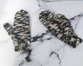 Camo Hand Knit Mittens (K...