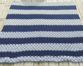 Blue and Grey Afghan, Bas...