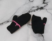 Black and Pink Merino Woo...