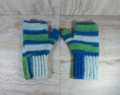Blue and Green Fingerless...