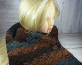 Brown and Blue Crochet Sc...