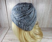 Grey Knitted Toque, Winte...