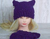 Purple Pussyhat and Finge...