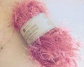 Pink Eyelash Yarn, 50 gra...