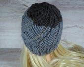 Grey Swirl Toque, Knitted...